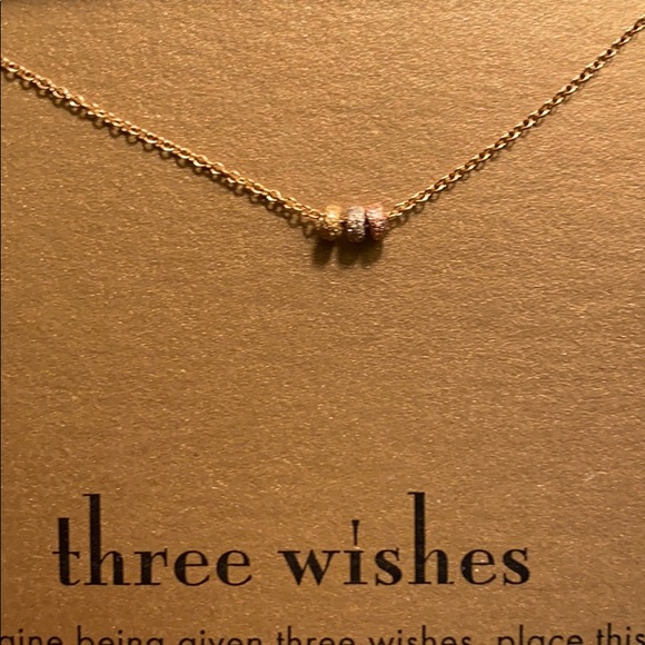"Dogeared Jewelry - Dogeared ""Three Wishes"" charm necklace"